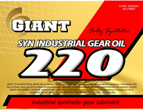 SYN INDUSTRIAL GEAR OIL 220 – Central Auto Parts
